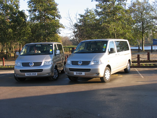 External view of 2 of our airport taxis.